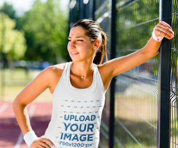Tank Top Mockup of a Young Female Tennis Player 41928-r-el2