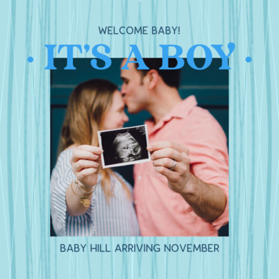 Modern Facebook Post Generator for a Virtual Gender Reveal 3396b