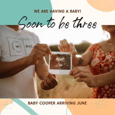 Facebook Post Maker for Expecting Fathers Announcing a Pregnancy 3396d