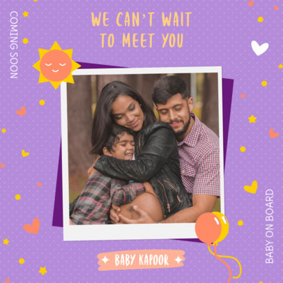 Pregnancy Reveal Instagram Post Creator for an Expecting Family 3404h