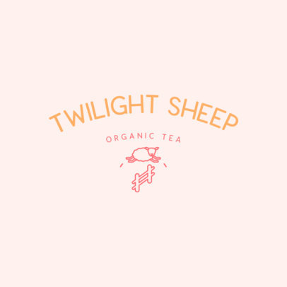 Sleep Aid Logo Maker for an Organic Tea Featuring a Sheep Clipart 4084c