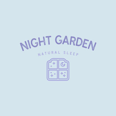 Natural Sleep Aid Logo Template Featuring a Window Illustration 4084g
