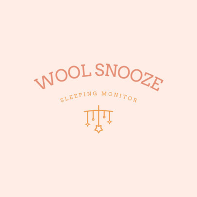 Logo Template for a Sleep Monitor Featuring a Mobile Clipart 4084j