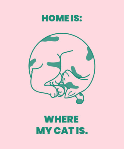 T-Shirt Design Creator Featuring a Lovely Quote and a Weird Cat 3408f