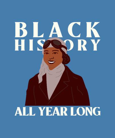 Black History Month T-Shirt Design Maker Featuring a Woman's Portrait 3409a