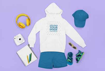 Mockup of a Kid's Outfit with a Hoodie m1265