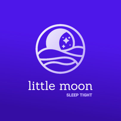 Minimal Logo Maker for a Sleep Aid Featuring a Relaxing Aesthetic 4083f