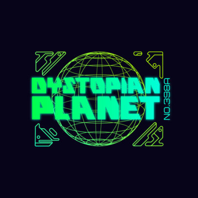Neon-Colored Gaming Logo Maker with a Futuristic Backdrop 4074A