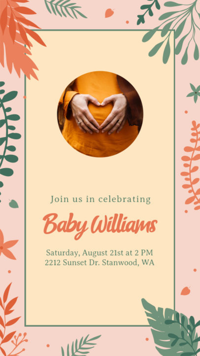 Instagram Story Creator to Celebrate the Arrival of a New Baby 3400b