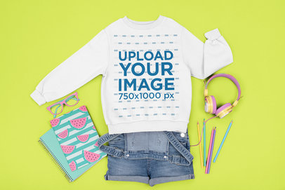 Mockup of a Sweatshirt Surrounded by Girly Items m1257