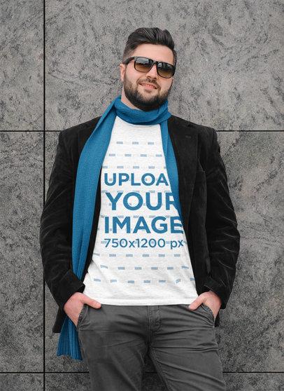 Mockup of a Man With a Basic T-Shirt Posing m1520-r-el2