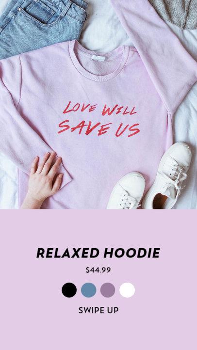 Instagram Story Design Creator for a Casualwear Clothing Offer 3563b-el1