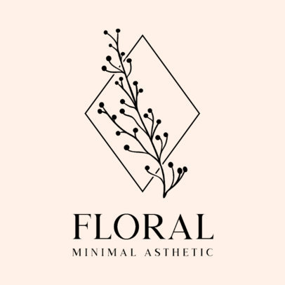 Logo Maker Featuring a Minimalist Floral Graphic 3589-el1