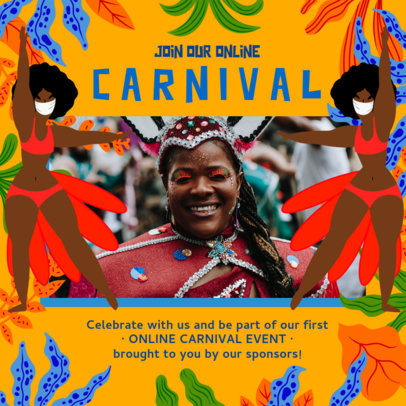 Instagram Post Creator for a Rio Carnival-Themed Virtual Meeting 3432d