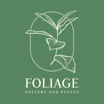 Elegant Logo Generator for a Plant Store 3589b-el1