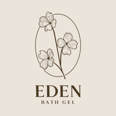 Floral Logo Creator with a Minimalist Style for a Beauty Product 3589c-el1