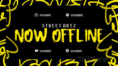 Twitch Offline Screen Video Maker with a Graffiti Style 2644