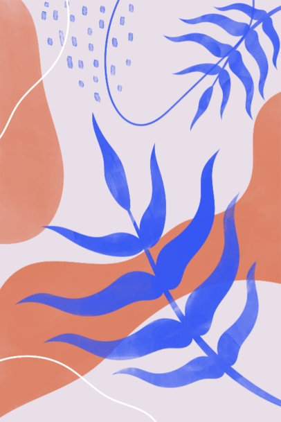 Art Print Maker with Elegant Illustrations of Plant Leaves 3426d