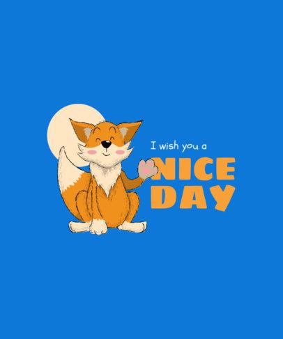 Kids T-Shirt Design Generator with a Sweet Fox Graphic 3579b-el1