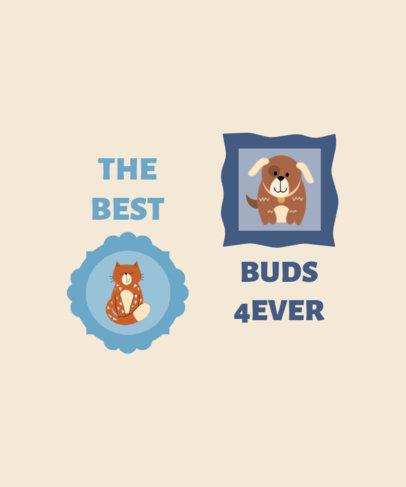 Illustrated T-Shirt Design Maker Featuring Pets Portraits 3581-el1