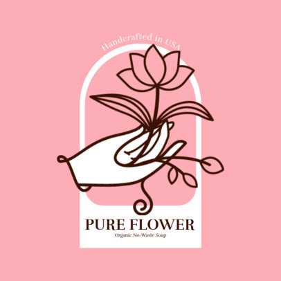 Logo Maker for Organic Soap Brands Featuring Floral Graphics 3585c-el1