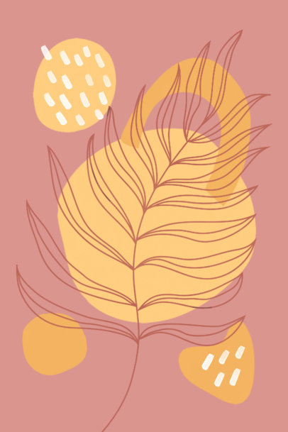 Minimal Art Print Maker Featuring an Outline Illustration of a Plant 3426i