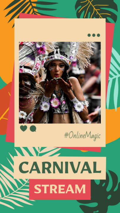 Instagram Story Generator to Announce a Carnival Live-Streaming 3430c