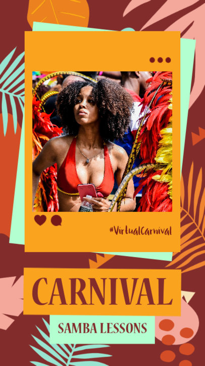 Instagram Story Maker to Promote Carnival Samba Lessons 3430e