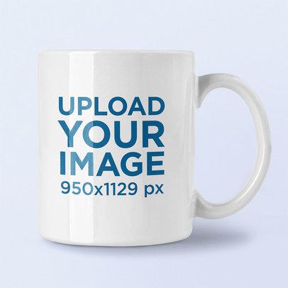 Mockup of an 11 oz Coffee Mug in a Minimalist Scenery m1996-r-el2