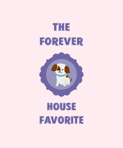 T-Shirt Design Template Featuring a Cute Dog Portrait 3581b-el1