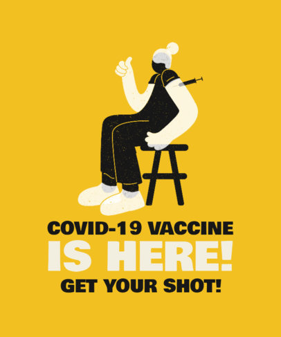 Illustrated T-Shirt Design Generator for a COVID-19 Vaccination Campaign 3433c