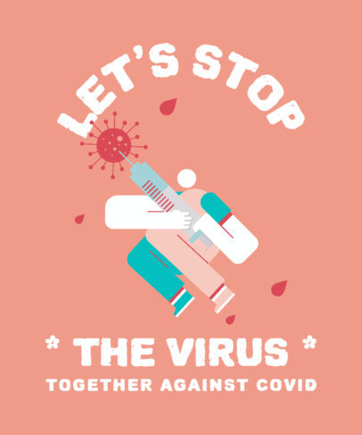 Coronavirus-Themed T-Shirt Design Maker with a Vaccine-Allusive Illustration 3434h