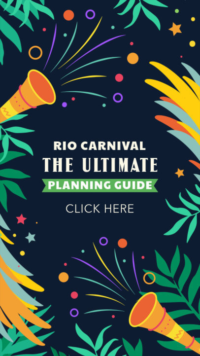 Carnival-Themed Instagram Story Creator for a Brazilian Travel Guide 3429d