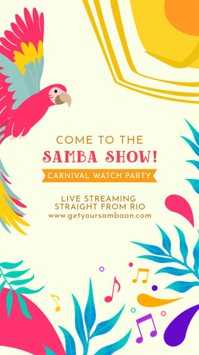 Carnival-Themed Instagram Story Maker for a Livestream Watch Party 3429f