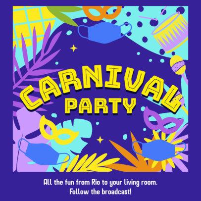 Facebook Post Generator to Announce a Brazilian Carnival Broadcast 3428a