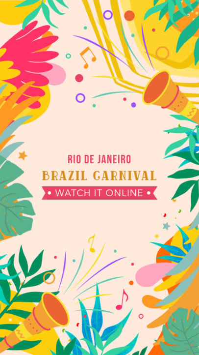 Instagram Story Maker with a Reminder to Watch Brazilian Carnival Online 3429h