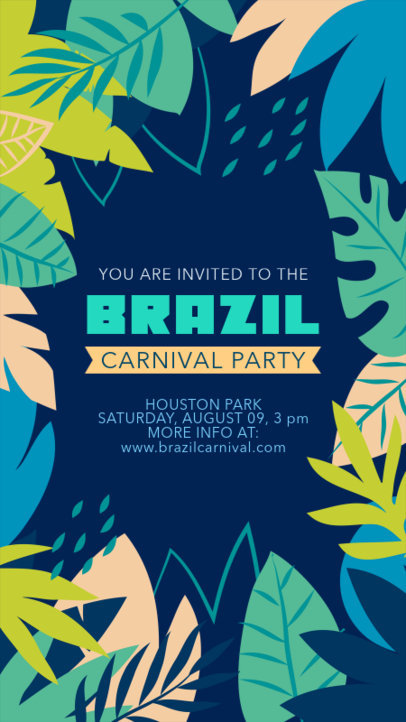 Instagram Story Template for an Invitation to a Carnival Party 3429c