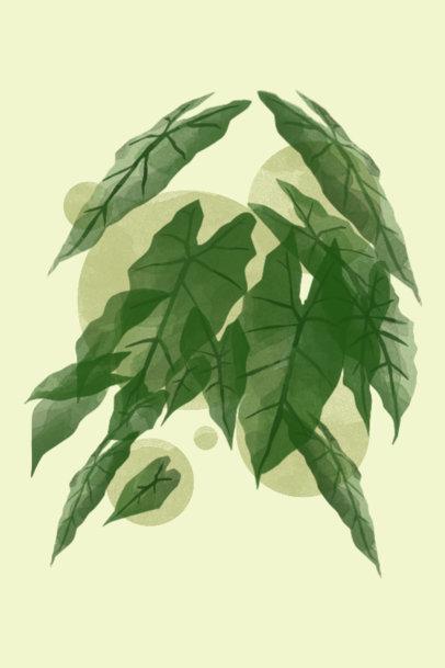 Art Print Design Template Featuring Botanical Graphics 3423a