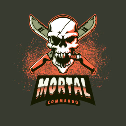Gaming Logo Generator Featuring a Killer Skull 4095n