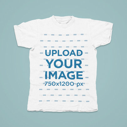 Mockup of a Basic T-Shirt Placed on a Solid Color Backdrop m1465-r-el2