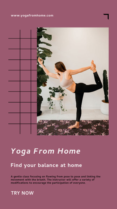 Instagram Story Maker to Promote Doing Yoga From Home 3610e-el1