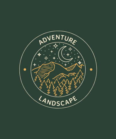 T-Shirt Design Maker for Adventurous Travelers Featuring Outdoor GraphicsT-Shirt Design Maker for Adventurous Travelers Featuring Outdoor Graphics 3626-el1