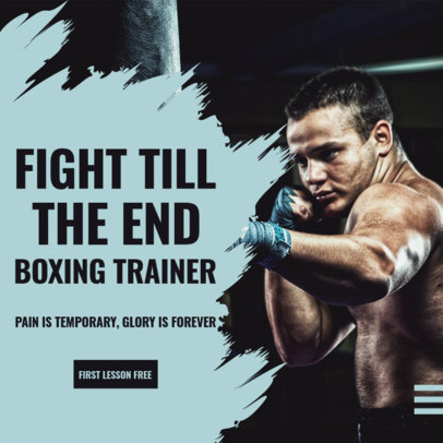 Instagram Post Design Template for a Boxing Coach 3616e-el1