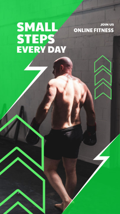 Instagram Story Template for an Online Fitness Course 3604b-el1
