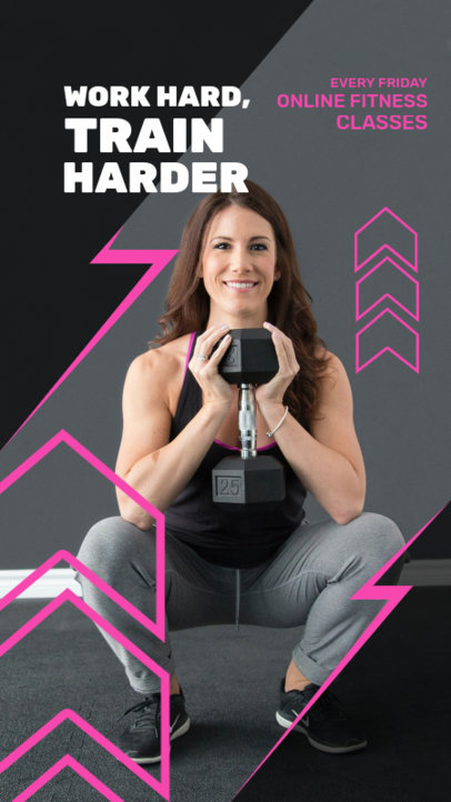 Instagram Story Maker for Weekly Fitness Classes 3604c-el1