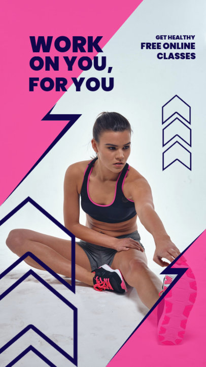 Instagram Story Template for Free Fitness Routines 3604e-el1