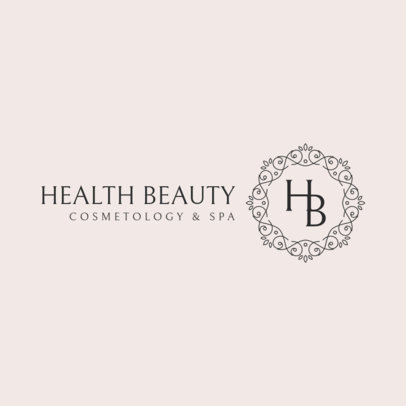 Beauty Monogram Logo Template with a Delicate Banner Graphic 3602b-el1
