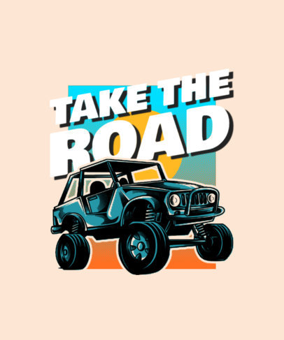 T-Shirt Design Maker Featuring Illustrated Off-Road Vehicles 3624-el1