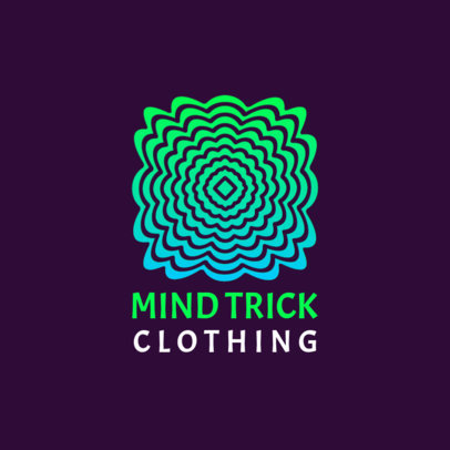 Clothing Brand Logo Maker Featuring an Abstract Optical Illusion 4115a