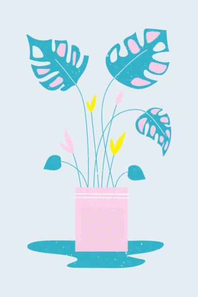 Art Print Creator Featuring a Monstera Plant in a Pot 3459d